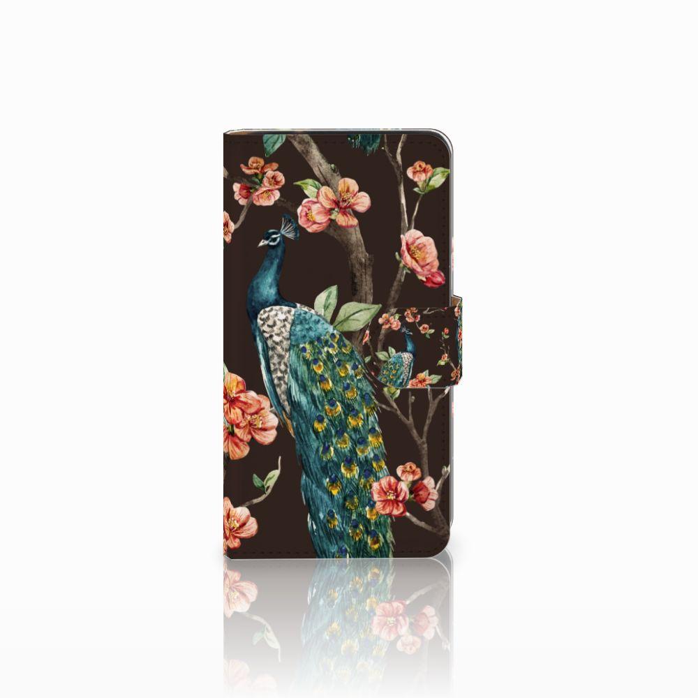 Samsung Galaxy J2 (2015) Boekhoesje Design Pauw met Bloemen
