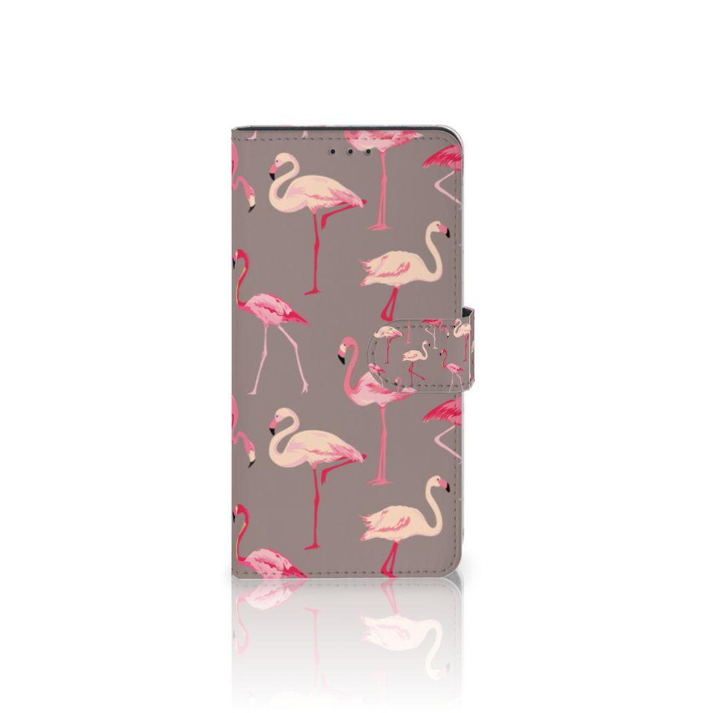 Samsung Galaxy A7 (2018) Uniek Boekhoesje Flamingo
