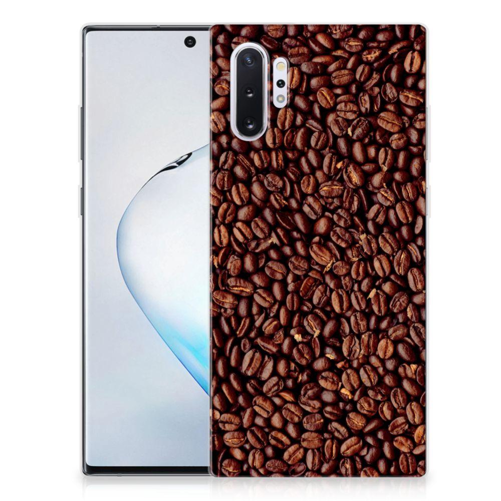 Samsung Galaxy Note 10 Plus Siliconen Case Koffiebonen