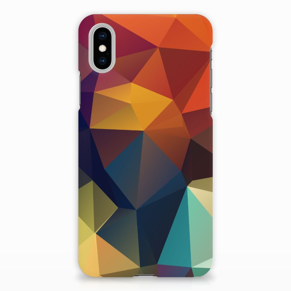 Apple iPhone X | Xs Rubber Case Polygon Color