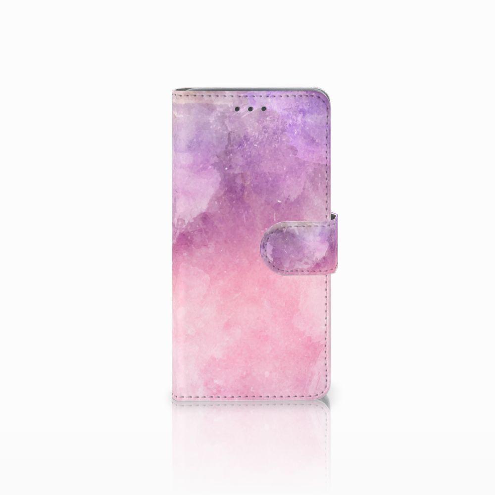 Wiko Lenny 2 Boekhoesje Design Pink Purple Paint