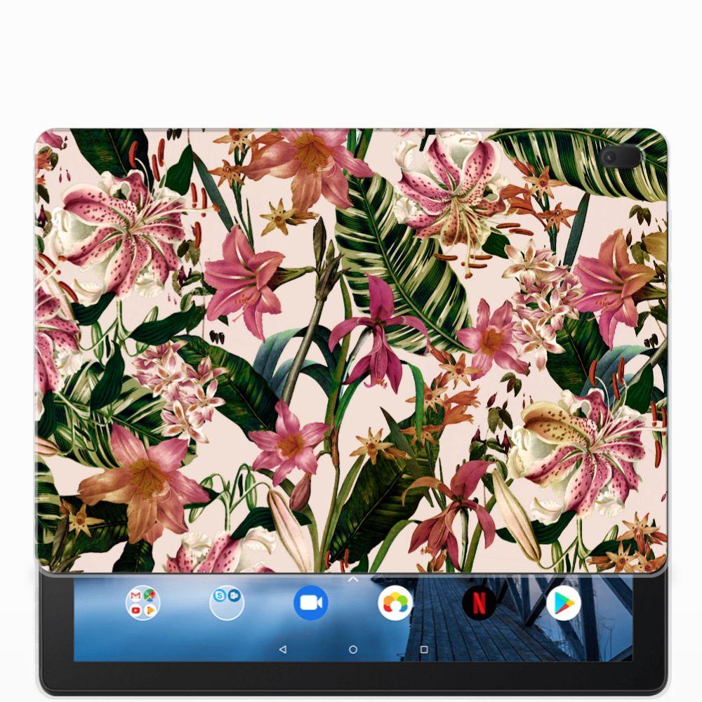 Lenovo Tab E10 Siliconen Hoesje Flowers
