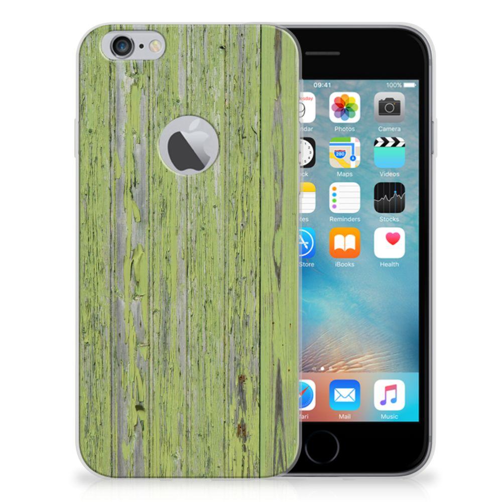 Apple iPhone 6 Plus   6s Plus Bumper Hoesje Green Wood