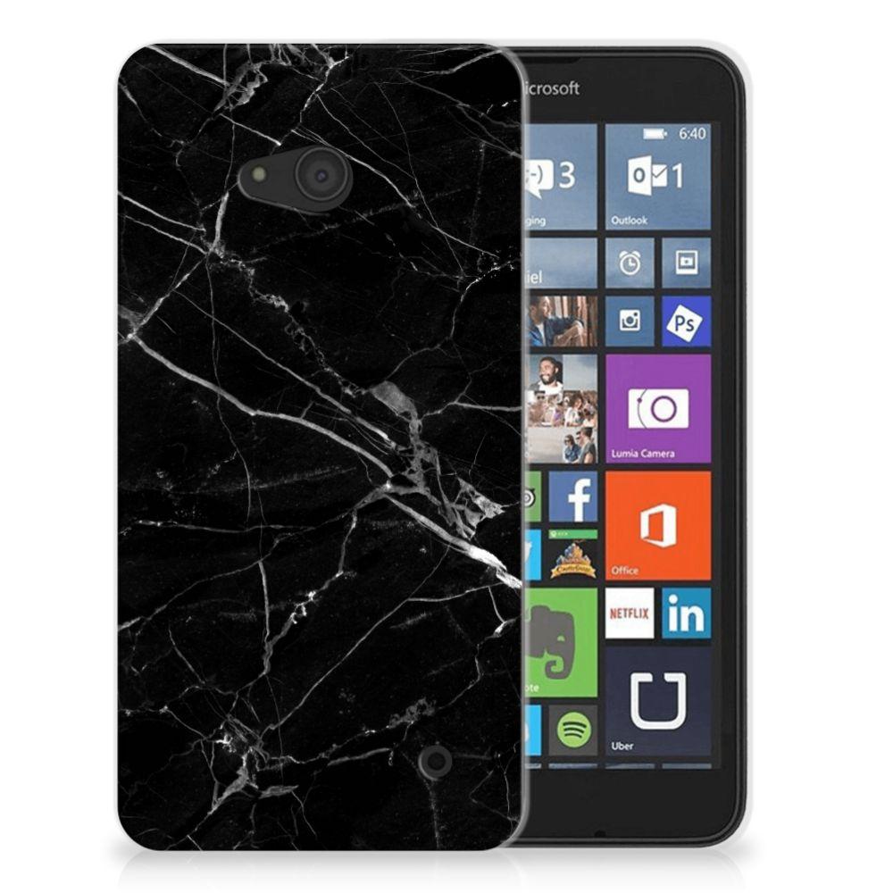 Microsoft Lumia 640 TPU Siliconen Hoesje Marmer Zwart