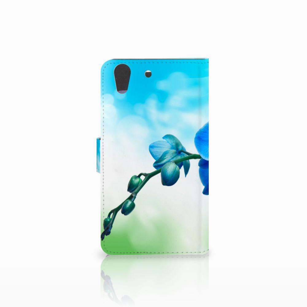 Huawei Y6 II   Honor 5A Hoesje Orchidee Blauw