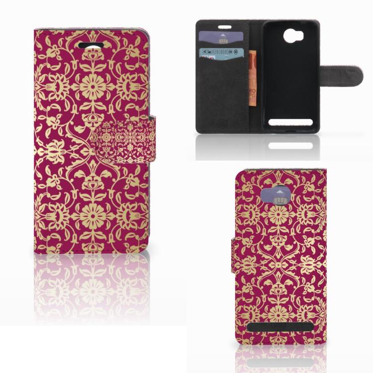 Wallet Case Huawei Y3 2   Y3 II Barok Pink