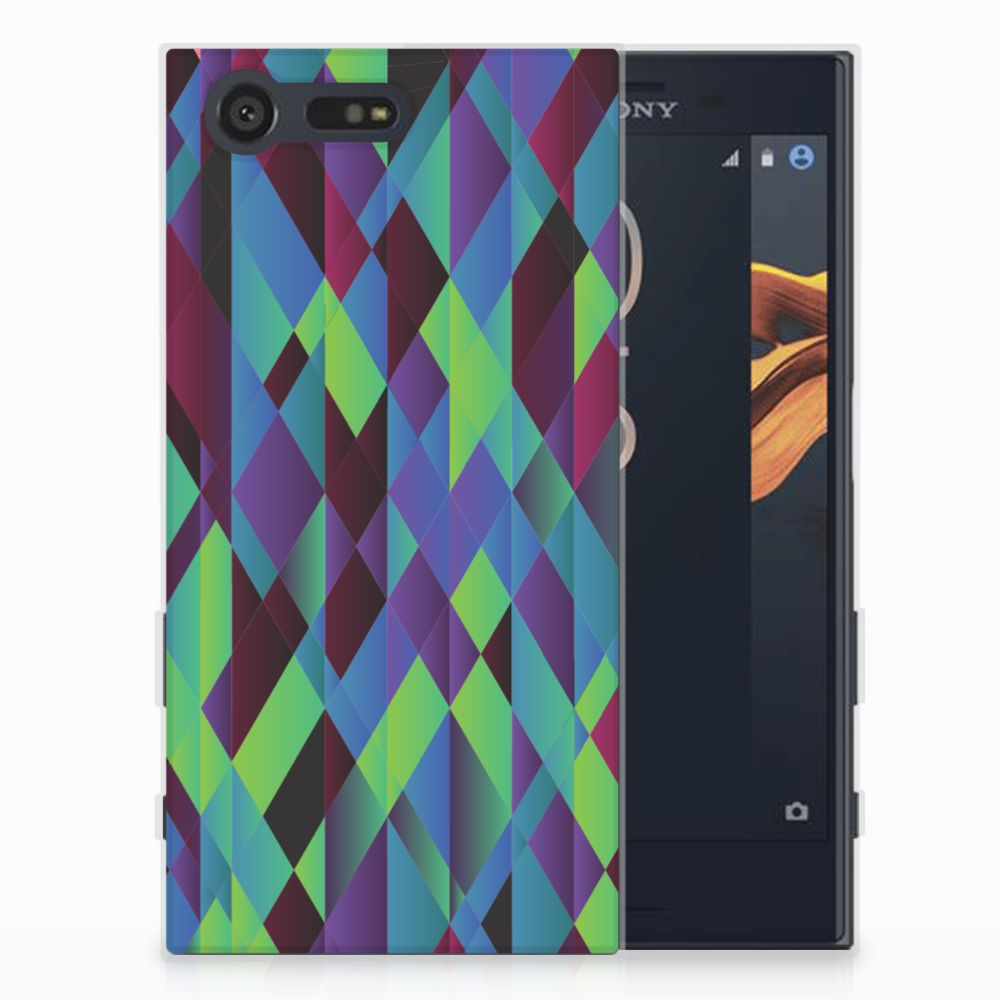 Sony Xperia X Compact TPU Hoesje Abstract Green Blue