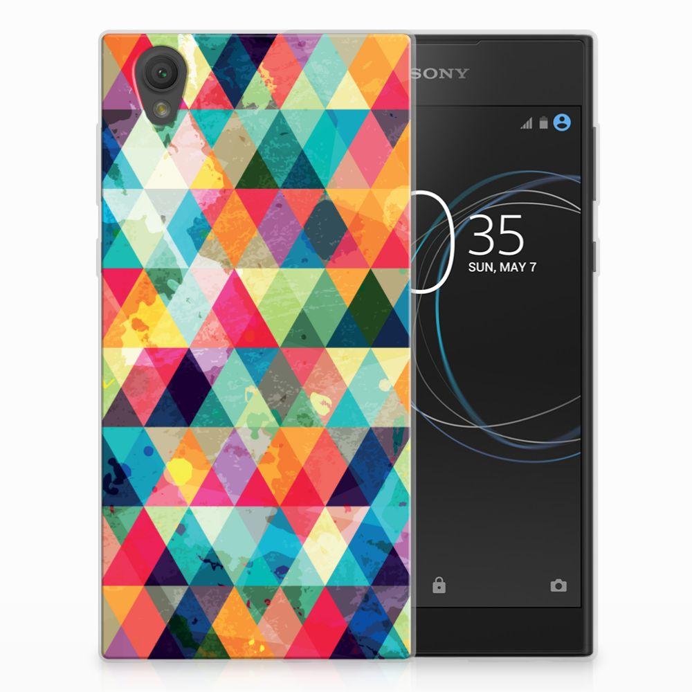 Sony Xperia L1 Uniek TPU Hoesje Geruit