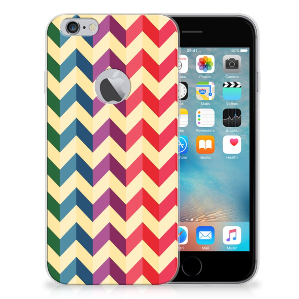 Apple iPhone 6 Plus | 6s Plus TPU bumper Zigzag Multi Color