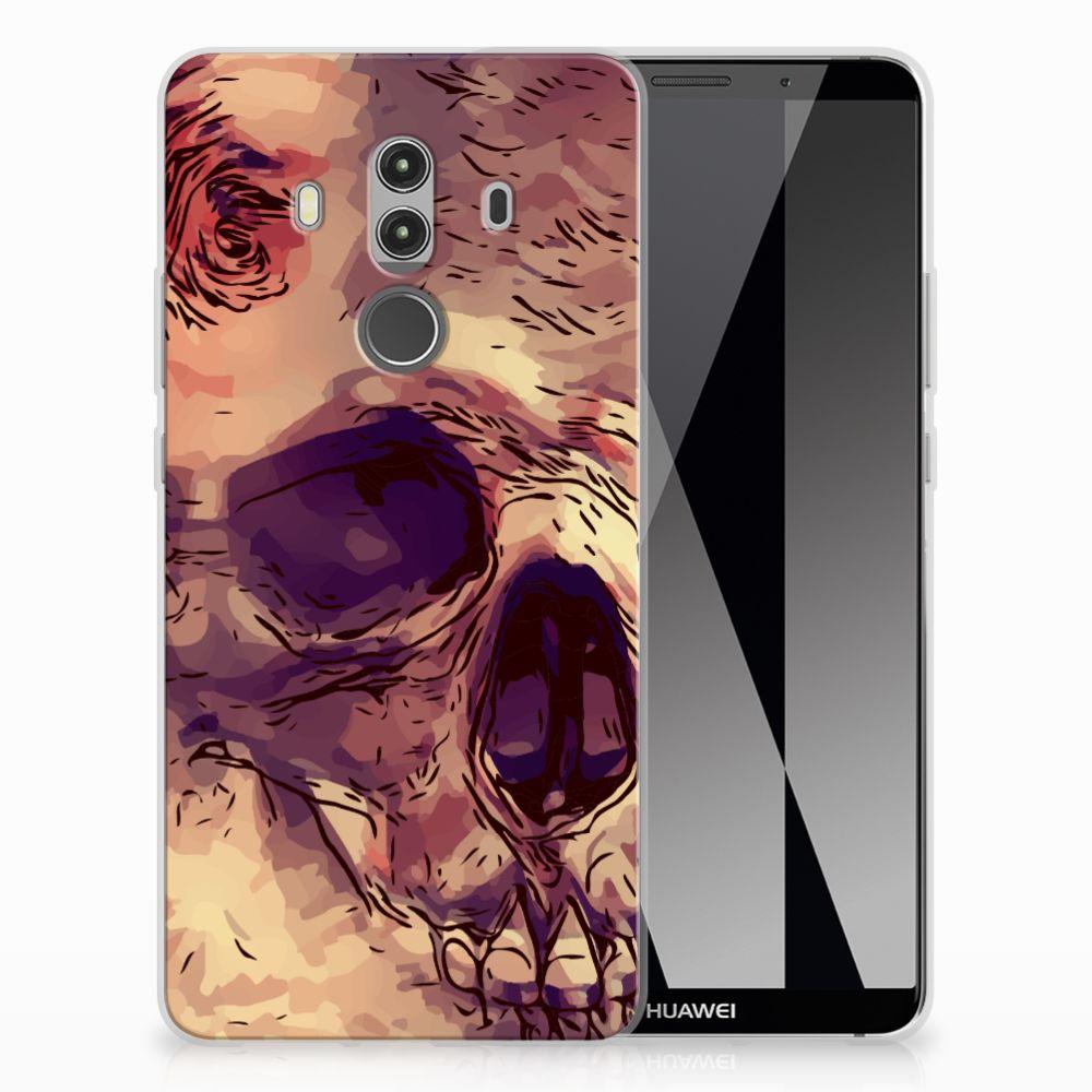 Silicone Back Case Huawei Mate 10 Pro Skullhead