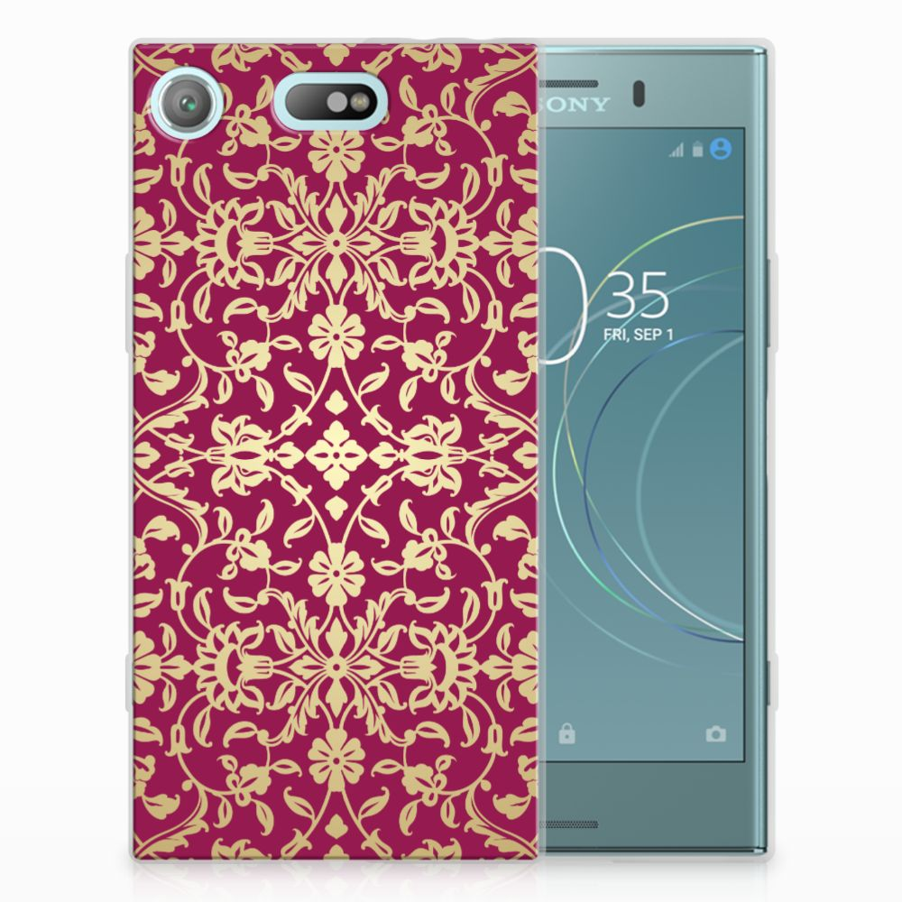Siliconen Hoesje Sony Xperia XZ1 Compact Barok Pink