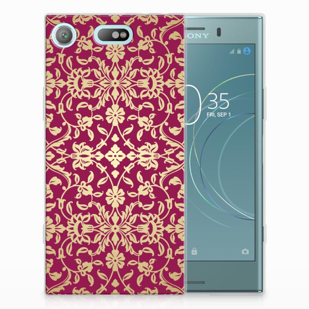 Sony Xperia XZ1 Compact TPU Hoesje Design Barok Pink