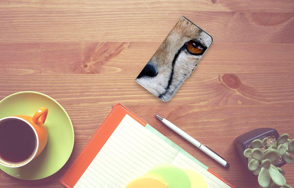 Samsung Galaxy S6 Edge Telefoonhoesje met Pasjes Cheetah