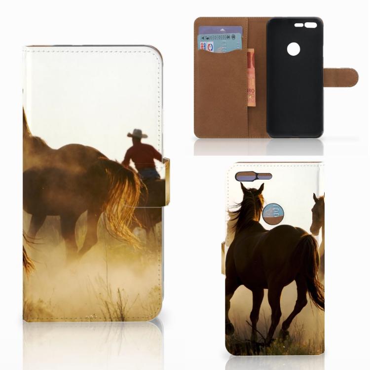 Google Pixel XL Telefoonhoesje met Pasjes Design Cowboy