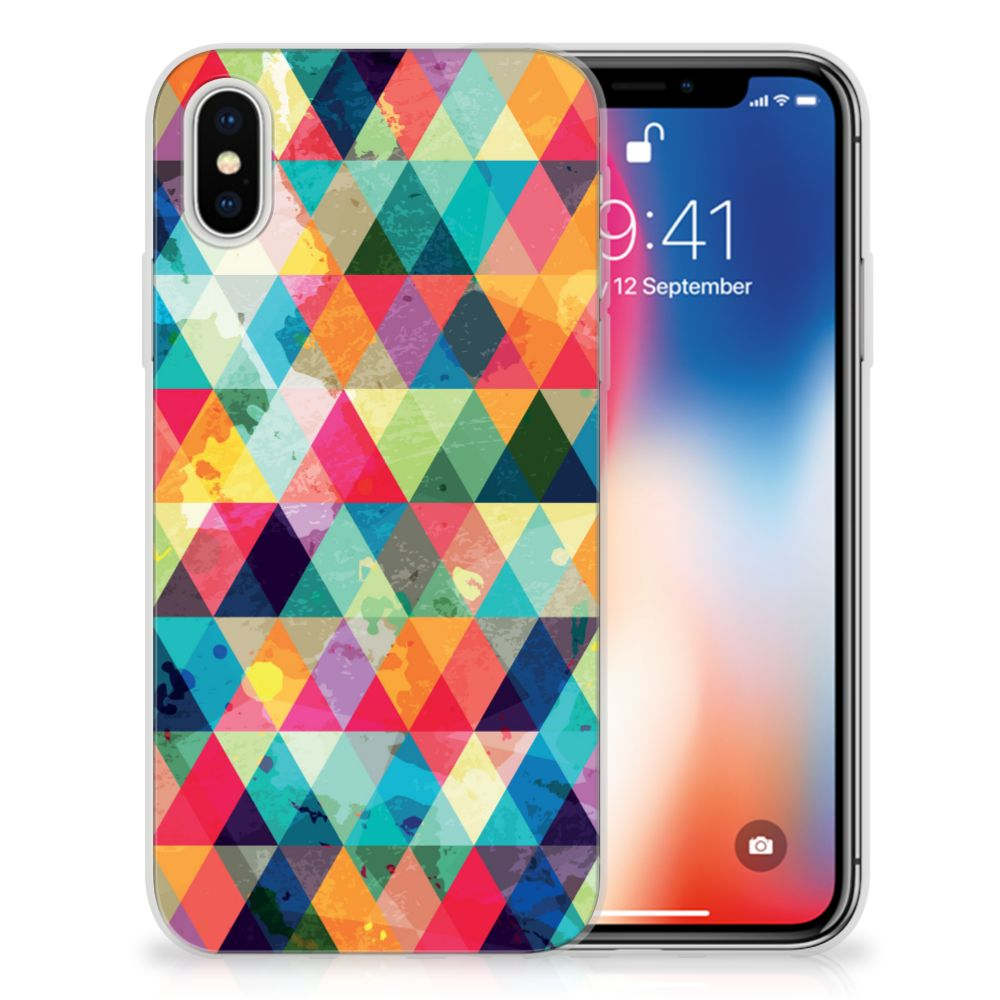 Apple iPhone X | Xs TPU bumper Geruit