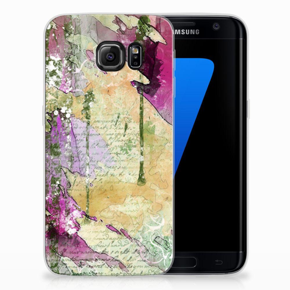 Samsung Galaxy S7 Edge Uniek TPU Hoesje Letter Painting