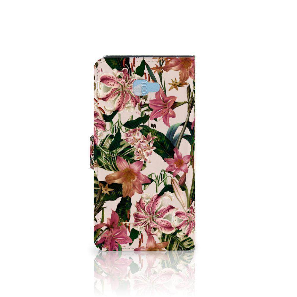 Samsung Galaxy J4 Plus (2018) Hoesje Flowers