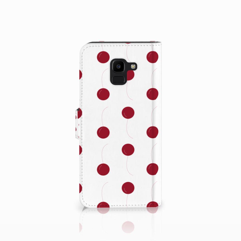 Samsung Galaxy J6 2018 Book Cover Cherries