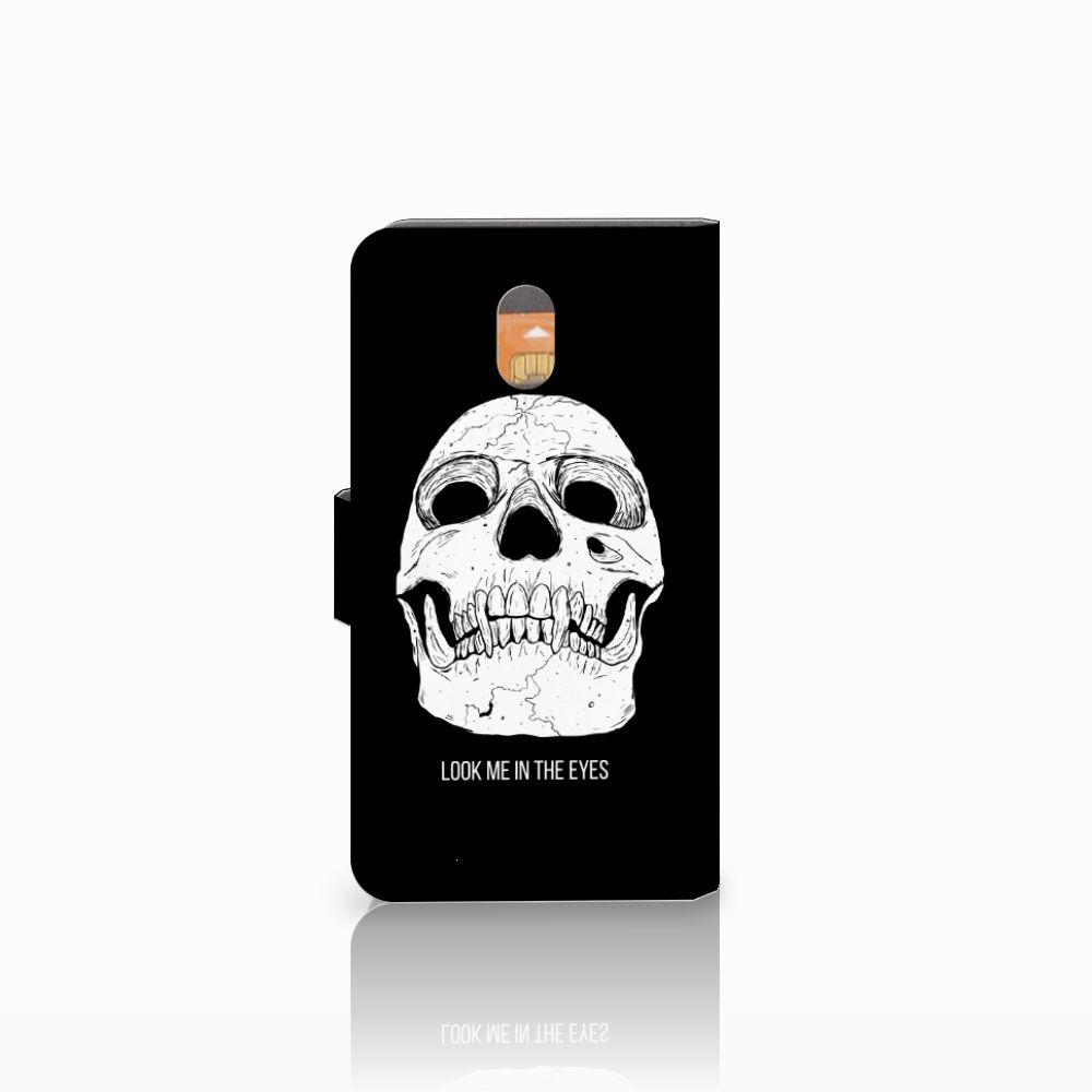 Telefoonhoesje met Naam Nokia 3 Skull Eyes