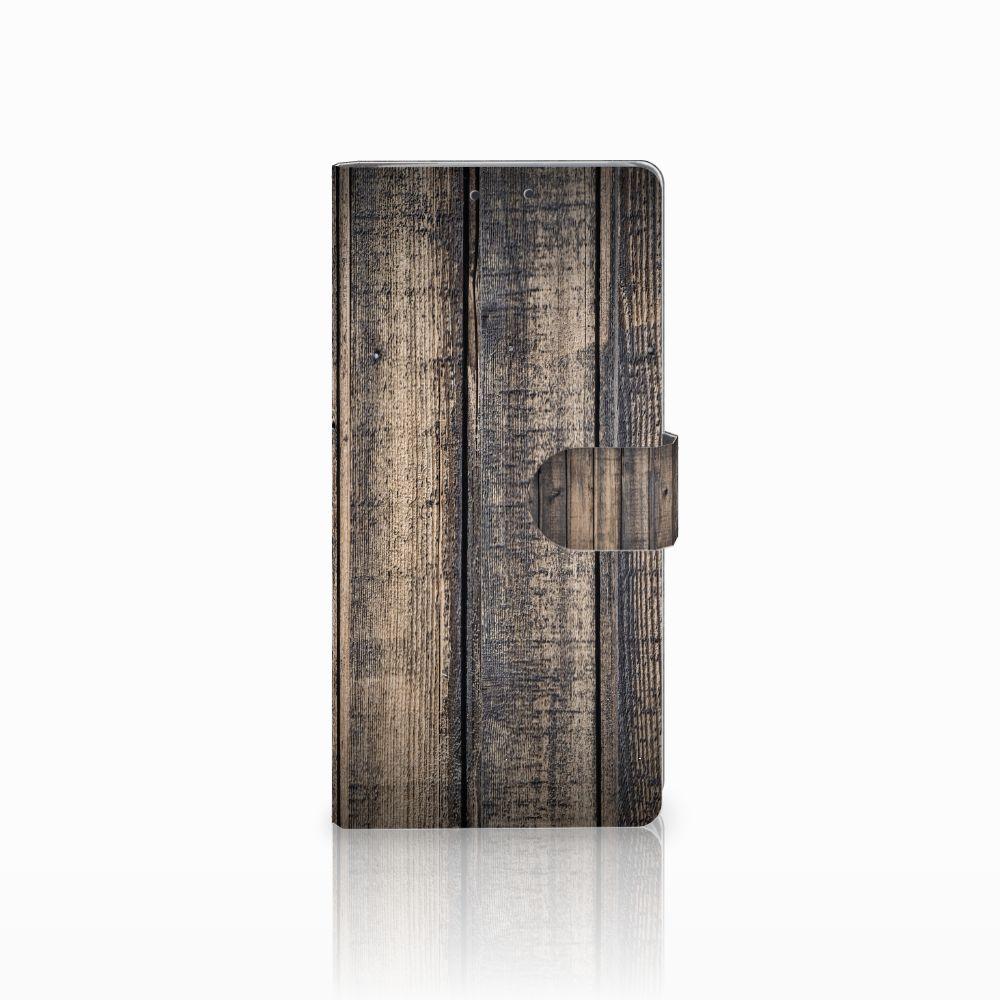 HTC U Ultra Boekhoesje Design Steigerhout