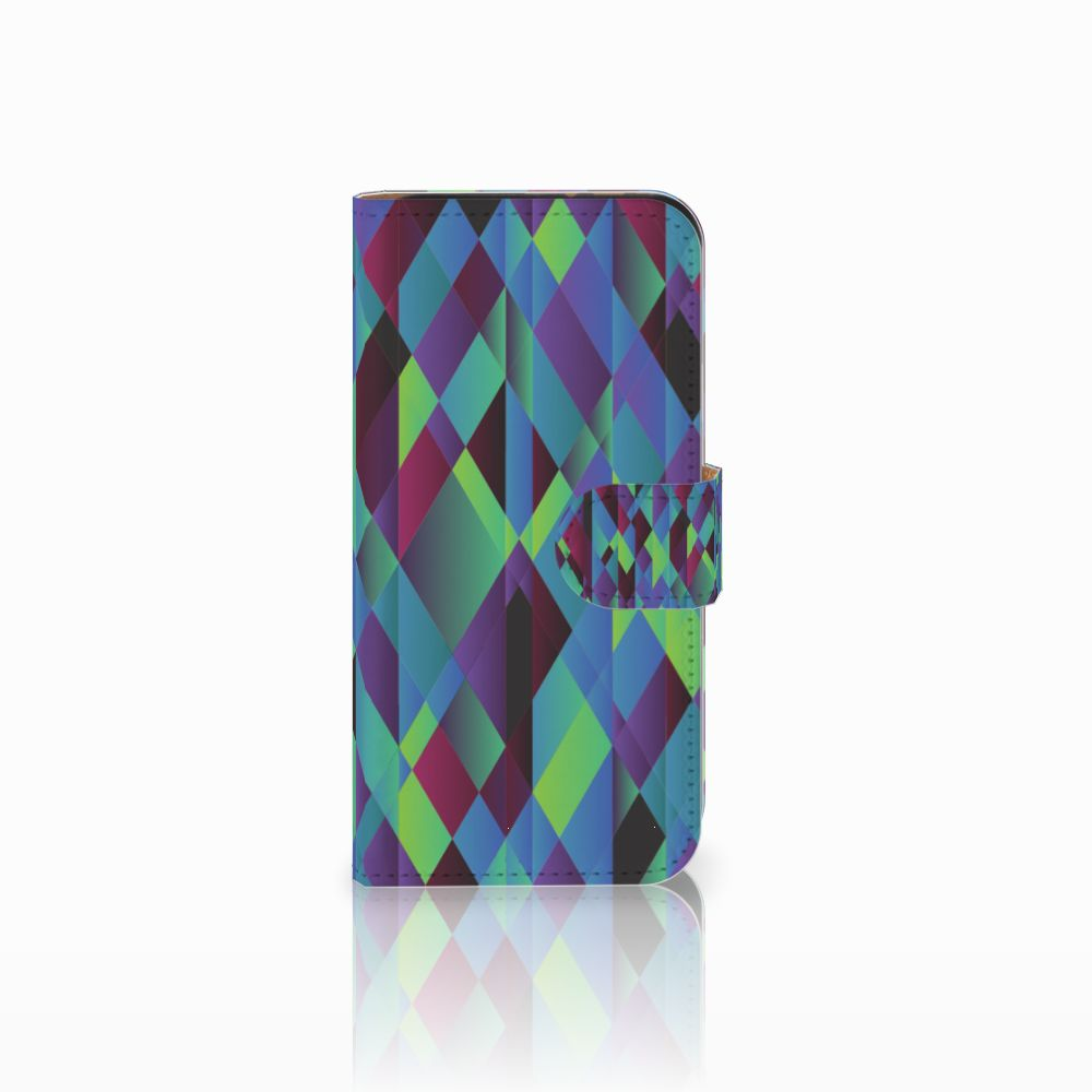 HTC One Mini 2 Bookcase Abstract Green Blue