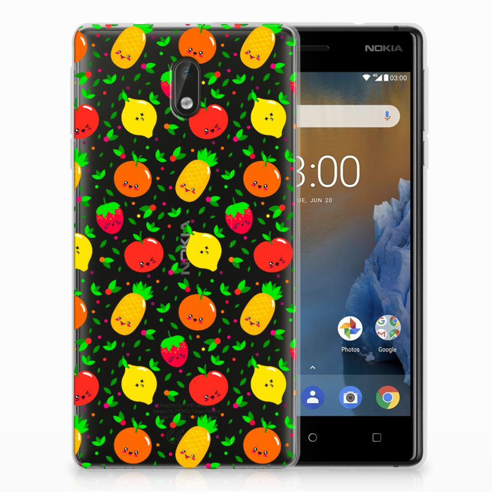 Nokia 3 Siliconen Case Fruits