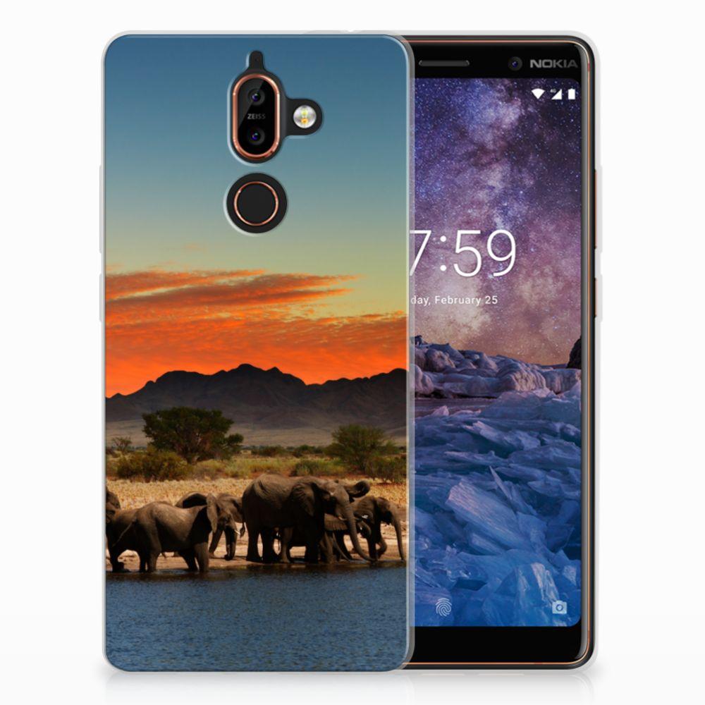 Nokia 7 Plus TPU Hoesje Design Olifanten