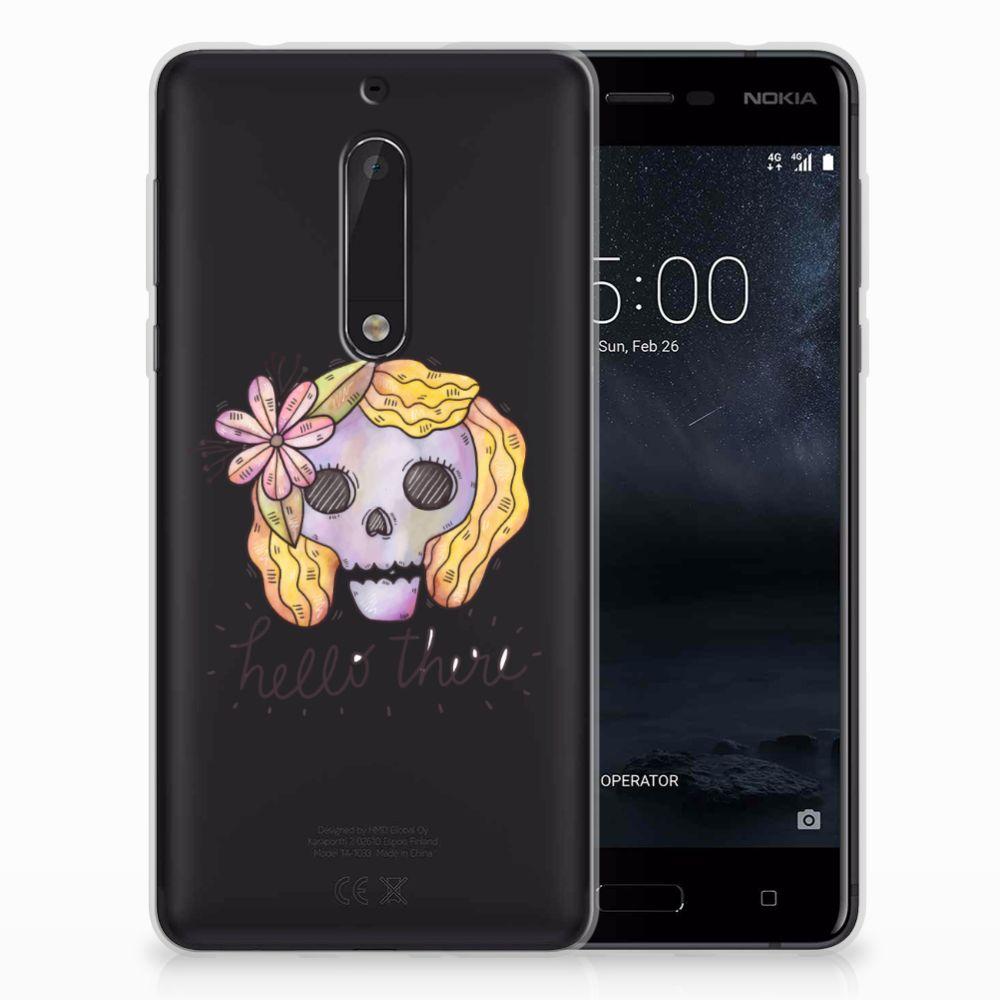 Nokia 5 Uniek TPU Hoesje Boho Skull