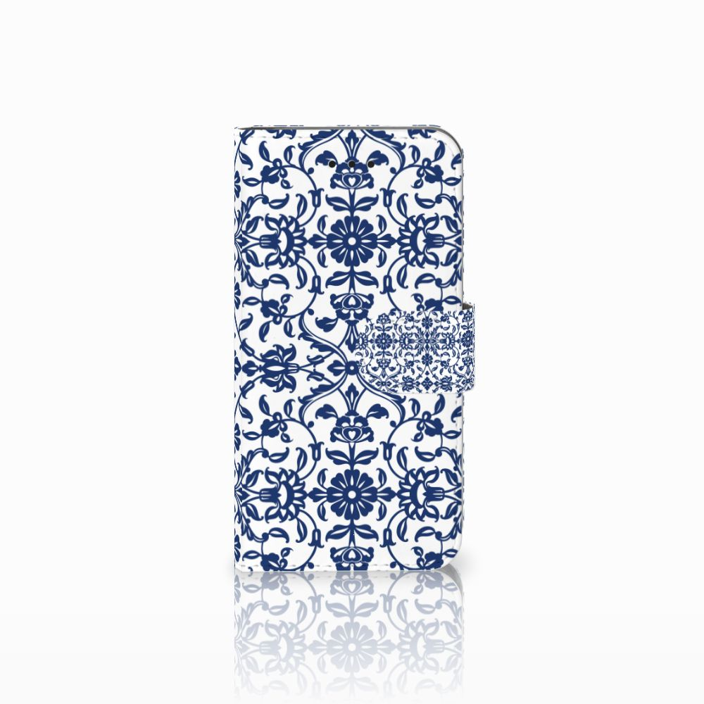 Apple iPhone X | Xs Boekhoesje Flower Blue