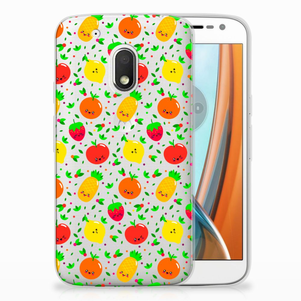 Motorola Moto G4 Play Siliconen Case Fruits