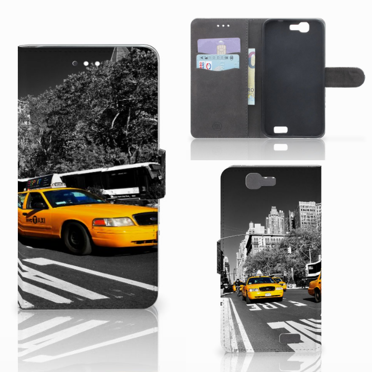 Huawei Ascend G7 Flip Cover New York Taxi