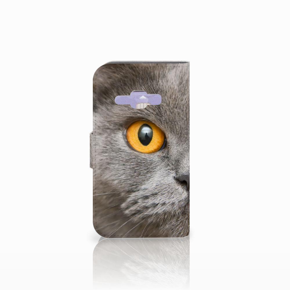 Telefoonhoesje met Pasjes Samsung Galaxy J1 2016 Britse Korthaar