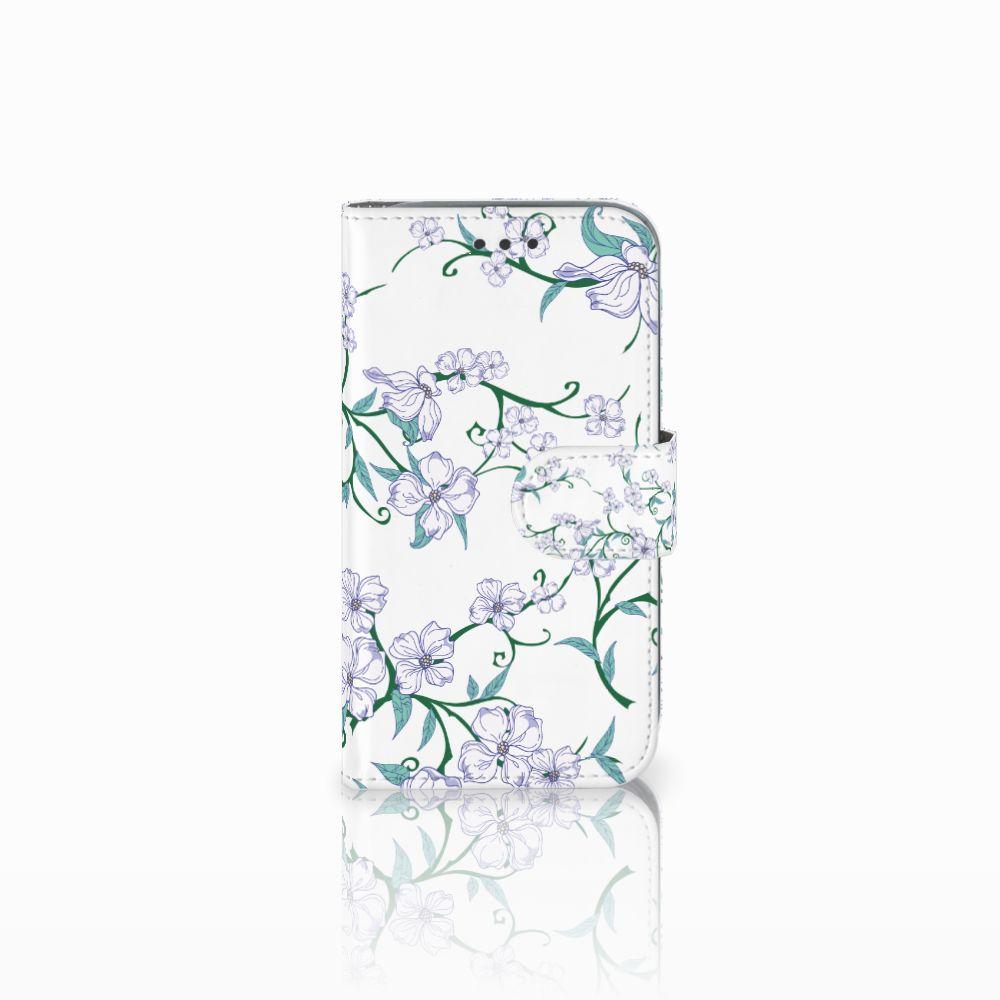 Samsung Galaxy Core Prime Uniek Boekhoesje Blossom White