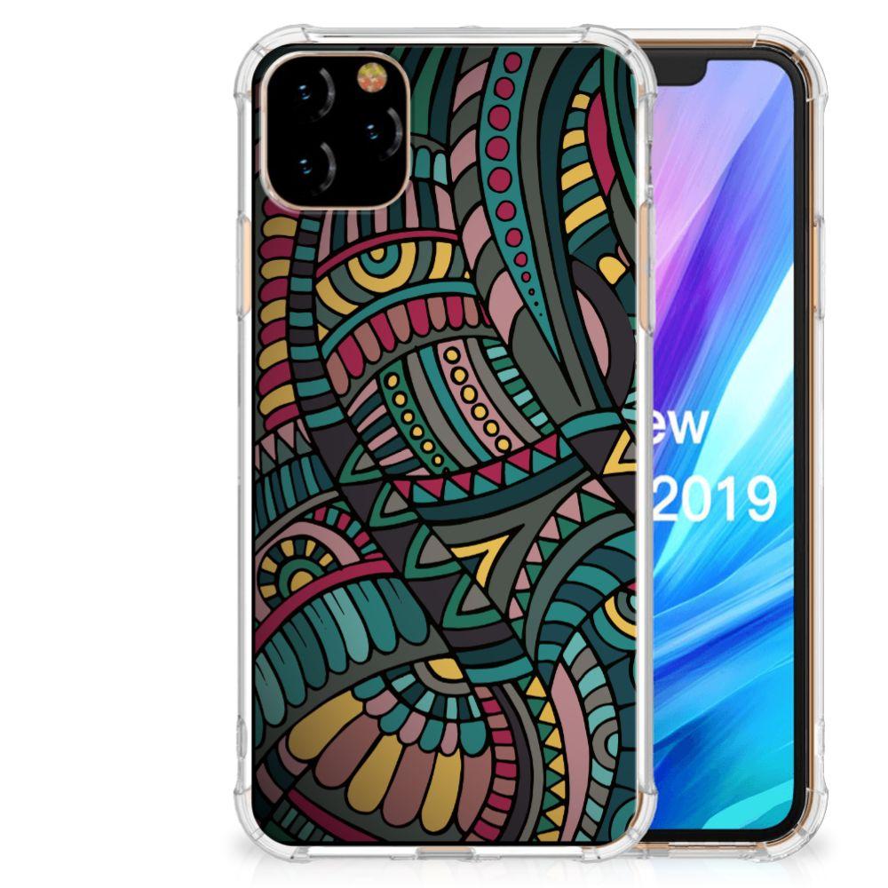 Apple iPhone 11 Pro Max Doorzichtige Silicone Hoesje Aztec