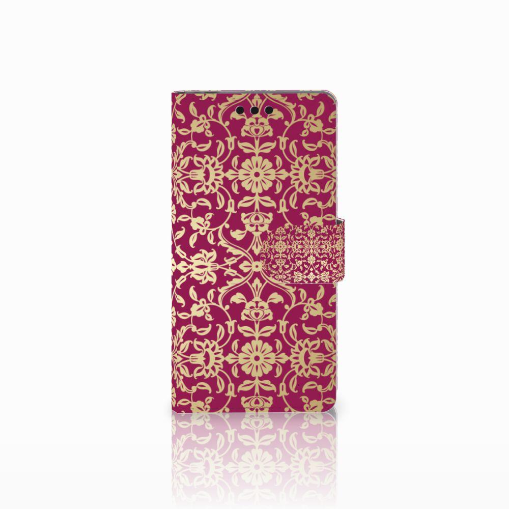 Sony Xperia M4 Aqua Boekhoesje Design Barok Pink