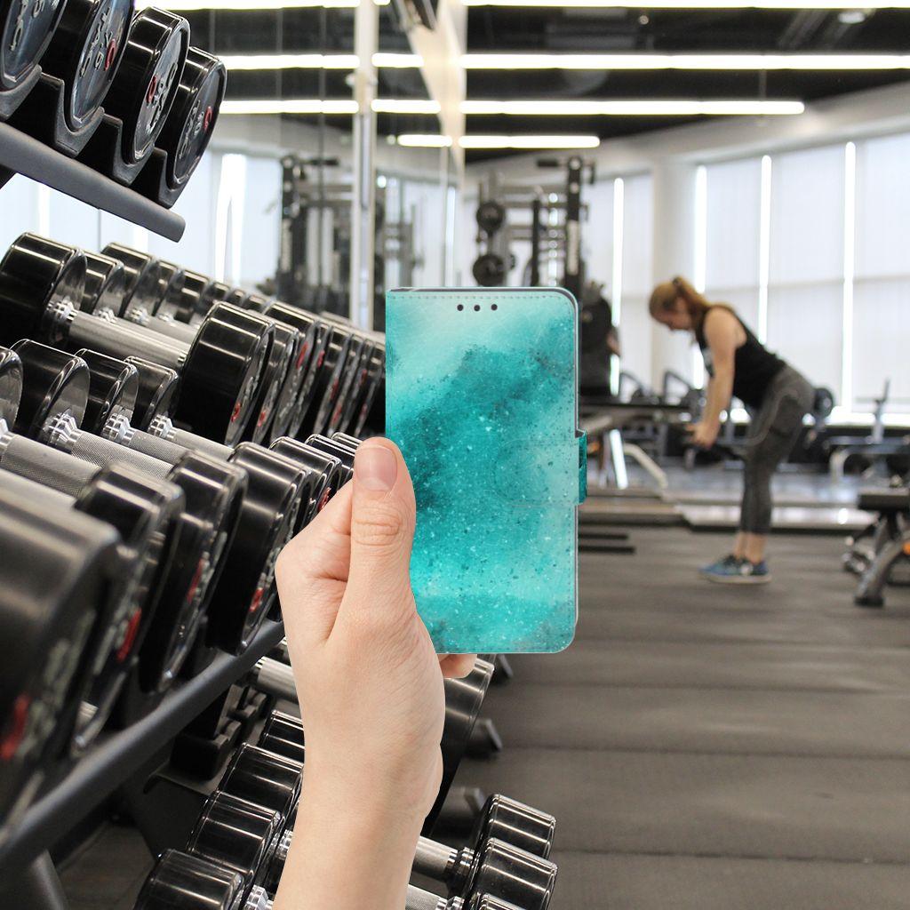 Huawei Y5 2 | Y6 II Compact Uniek Boekhoesje Painting Blue