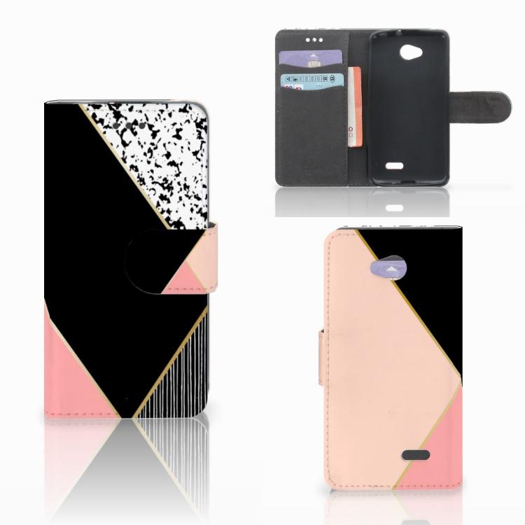 LG L70 Bookcase Zwart Roze Vormen