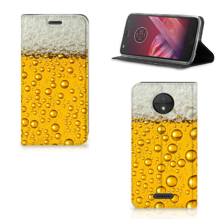 Motorola Moto C Flip Style Cover Bier