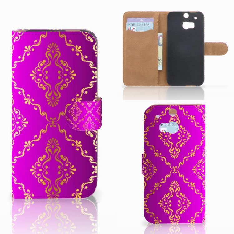 Wallet Case HTC One M8 Barok Roze
