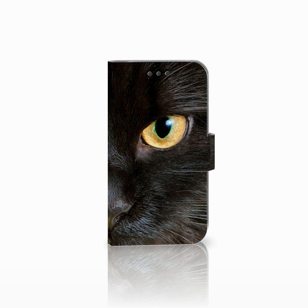 Samsung Galaxy S3 i9300 Uniek Boekhoesje Zwarte Kat