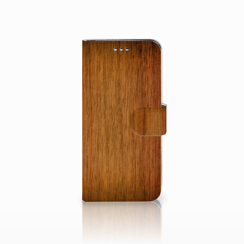 Samsung Galaxy S9 Uniek Boekhoesje Donker Hout