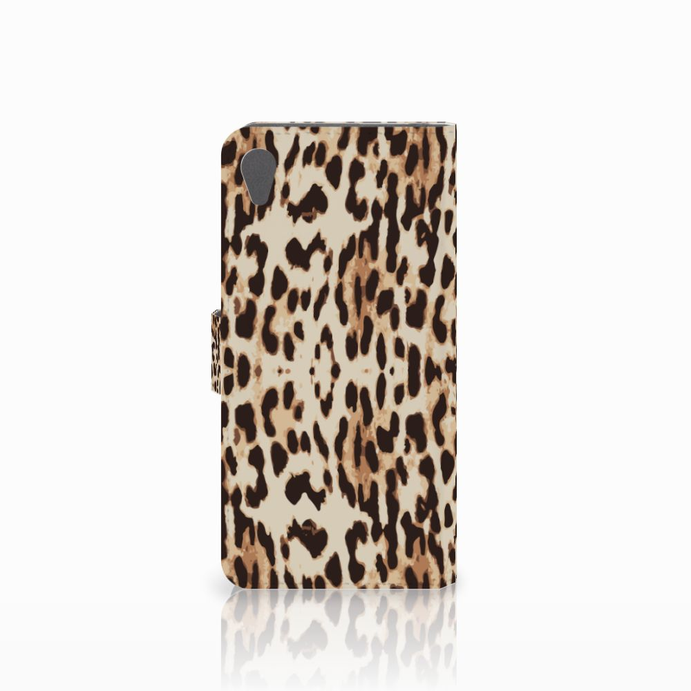 Sony Xperia Z5 Premium Telefoonhoesje met Pasjes Leopard