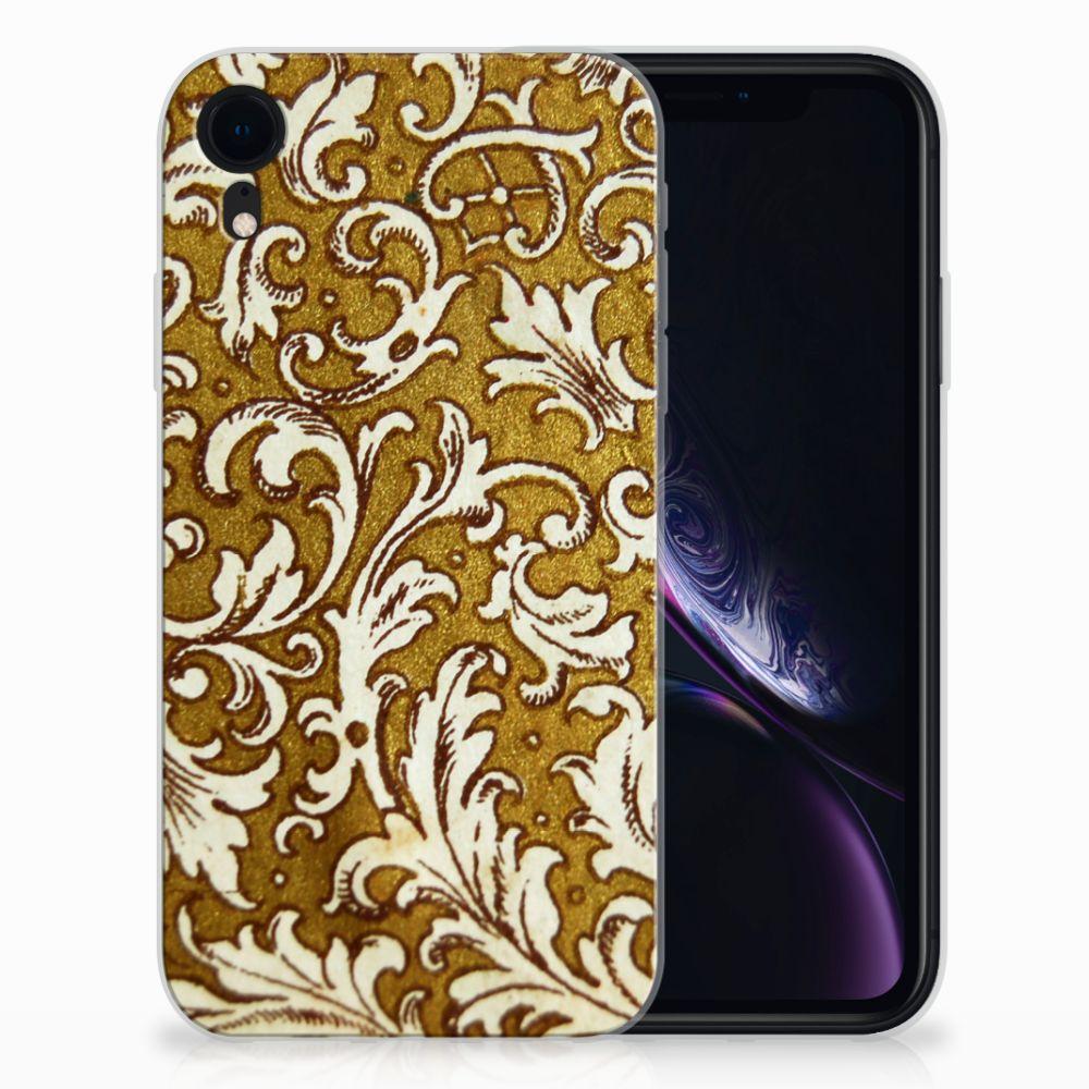 Siliconen Hoesje Apple iPhone Xr Barok Goud