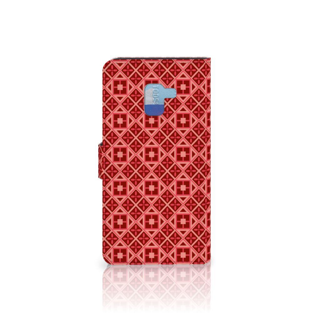 Samsung Galaxy A8 Plus (2018) Telefoon Hoesje Batik Rood