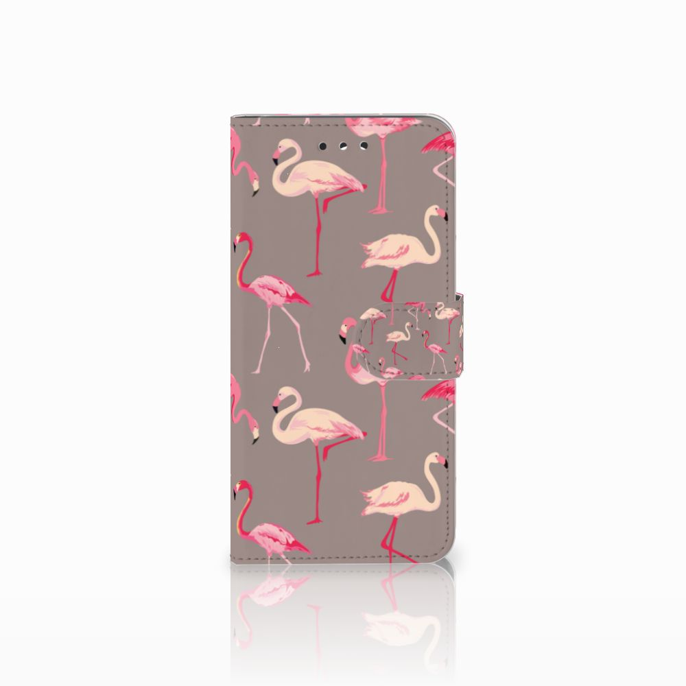 LG G7 Thinq Uniek Boekhoesje Flamingo
