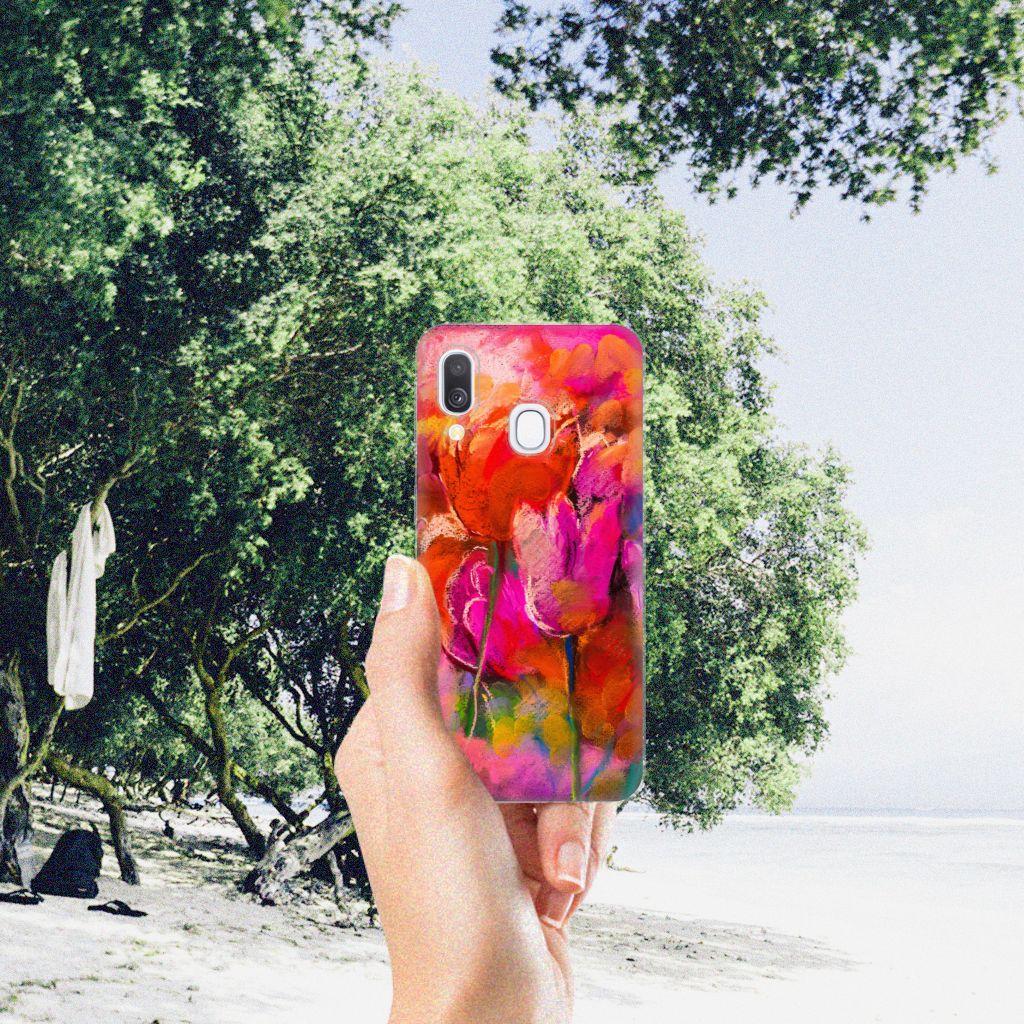 Hoesje maken Samsung Galaxy A40 Tulips
