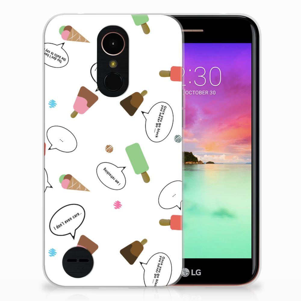 LG K10 2017 Siliconen Case IJsjes