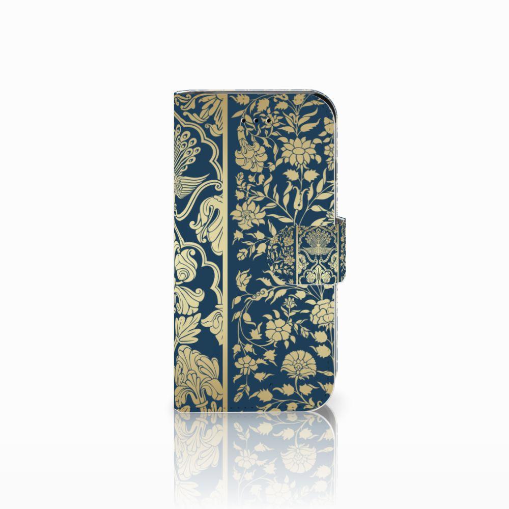 Apple iPhone 6 | 6s Uniek Boekhoesje Golden Flowers