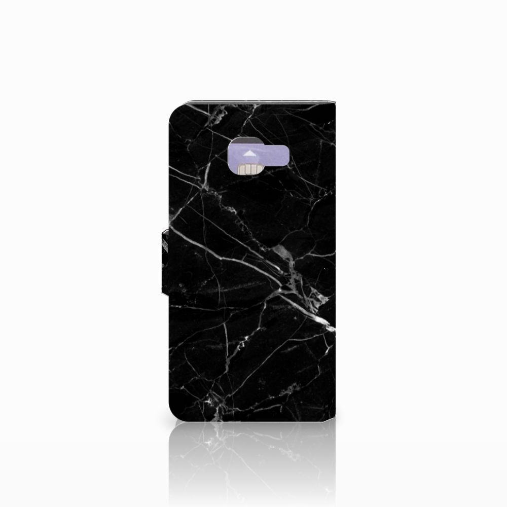 Samsung Galaxy A3 2016 Bookcase Marmer Zwart