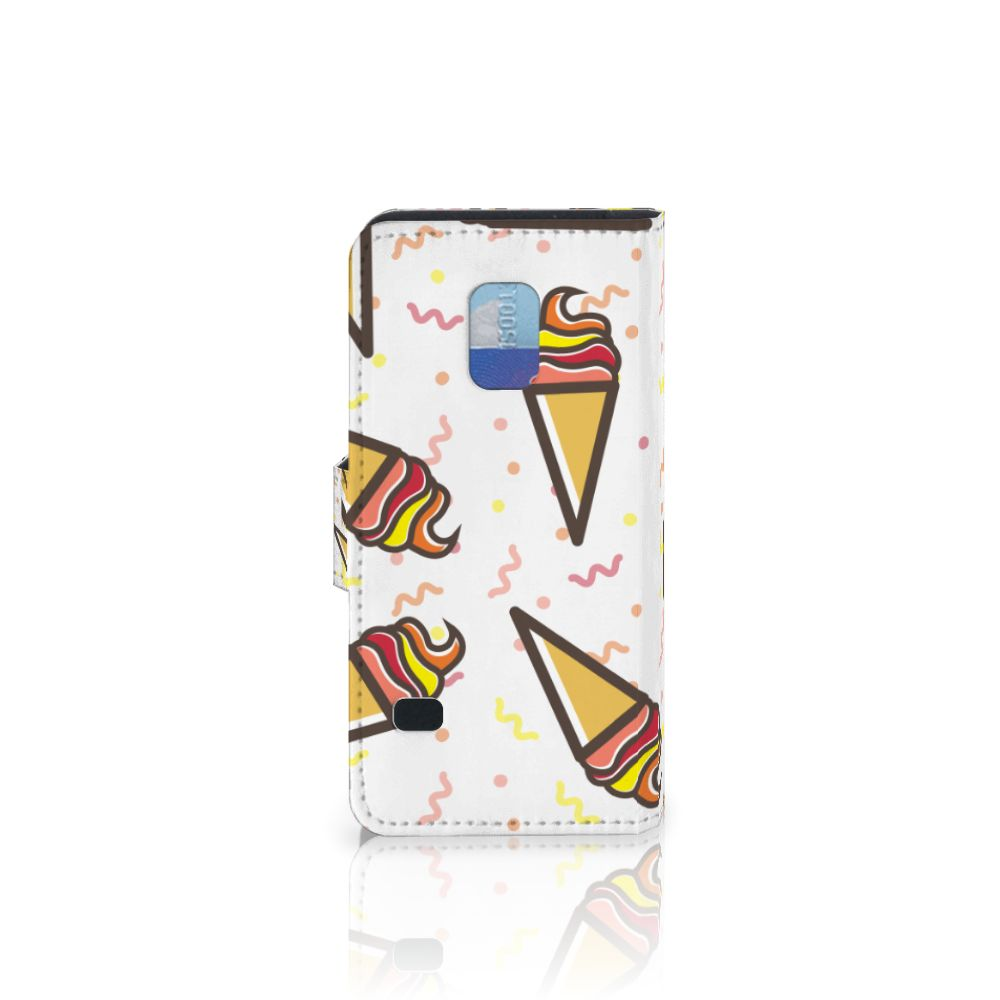 Samsung Galaxy S5 Mini Book Cover Icecream